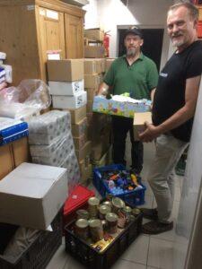 Spendenlieferung in die Linzer Wärmestube