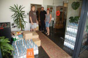 Spendenlieferung in die Notschlafstelle Steyr