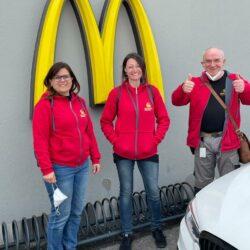 Walter, Ulli & Petra bei MacDonalds Gmunden