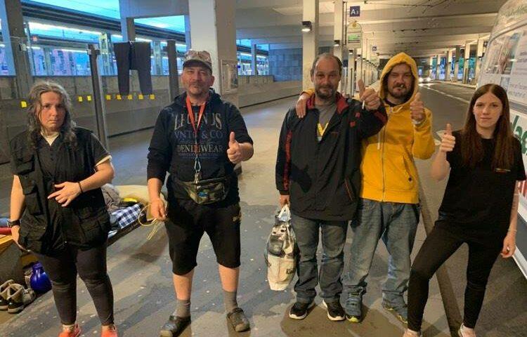 Obdachlos am Terminal Linz