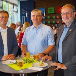 LR S.Kaineder, Univ.Prof.DI Dr. R.Baumgartner, Governor Hr. Dr. Himmel