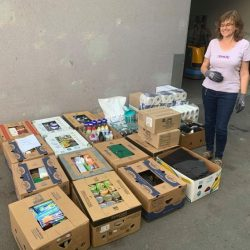 Spendenlieferung ins Welser SWS