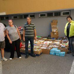 Spendenlieferung in die Salzburger Wärmestube